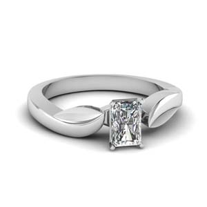 nature inspired diamond engagement discounted wedding ring in 14K white gold FDENR6683RAR NL WG