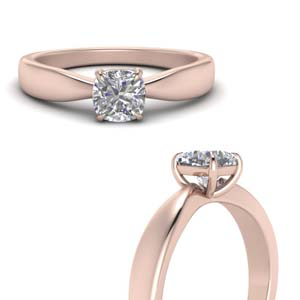 Rose Gold Bow Solitaire Ring
