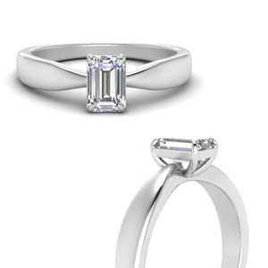 Emerald Cut Bow Ring