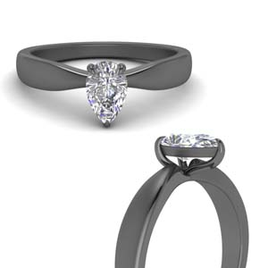 Pear Bow Solitaire Ring