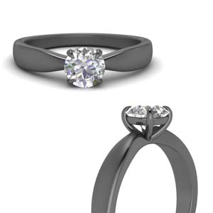 Bow Style Single Diamond Ring