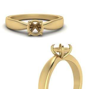 Semi Mount Tapered Solitaire Ring
