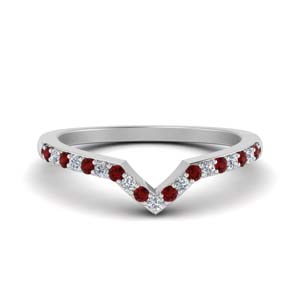 Curved Custom Band With Ruby