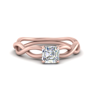 Solitaire Asscher Cut Engagement Rings