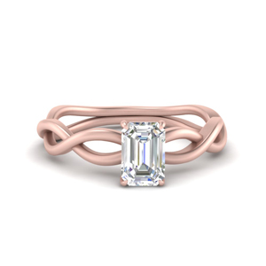 Emerald Cut Solitaire Engagement Rings