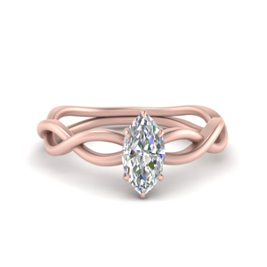 Twisted Vine Marquise Solitaire Ring