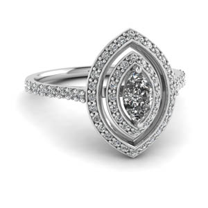 Diamond Double Halo Ring