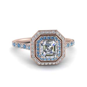 Asscher Double Halo Ring