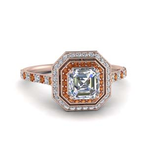petite-asscher-diamond-engagement-ring-with-orange-sapphire-double-halo-in-FD121992ASRGSAOR-NL-RG