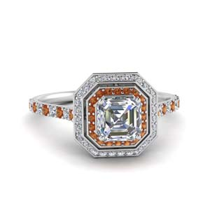 Petite Asscher Ring For Women