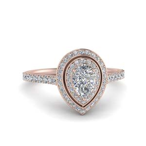 Pear Diamond Ring With Halo