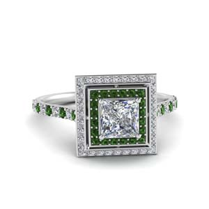 petite-princess-diamond-engagement-ring-with-emerald-double-halo-in-FD121992PRRGEMGR-NL-WG
