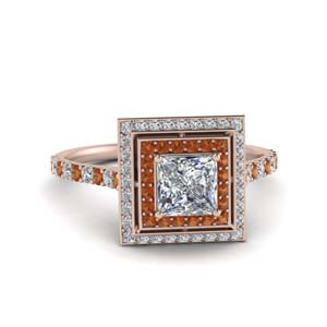 Rose Gold Princess Cut diamond Ring