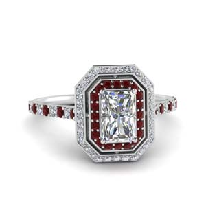Ruby Pave Halo Ring
