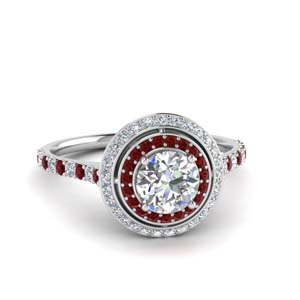 Platinum Ruby Engagement Ring
