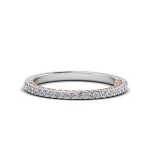 Two Tone Filigree Delicate Band
