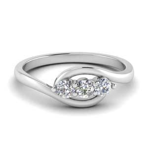 0.30 Ct. Crossover 3 Stone Ring