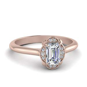 Petal Style Halo Diamond Ring