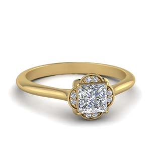 One Karat Halo Diamond Ring