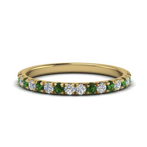 Womens Band With Emerald