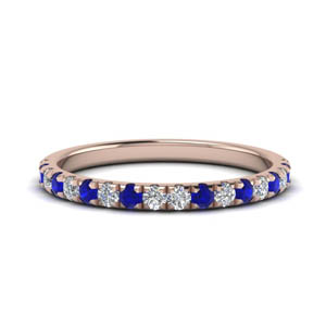 0.40 Ct. Diamond Band With Sapphire