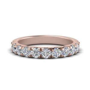 Womens Diamond Half Eternity Band