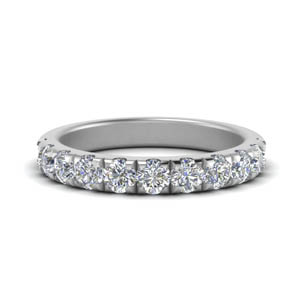 Scalloped Diamond Half Eternity Band