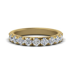 Diamond Half Eternity Band 0.90 Ct.