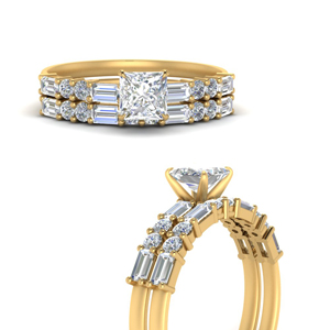 Baguette Ring With Wedding Band