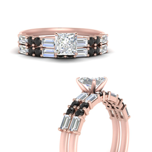 Baguette Engagement Ring Set