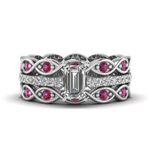 infinity diamond trio band ring
