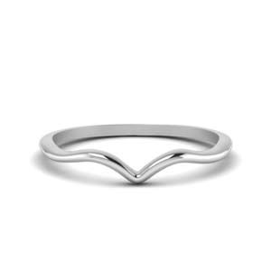 Plain Thin Curved Wedding Band