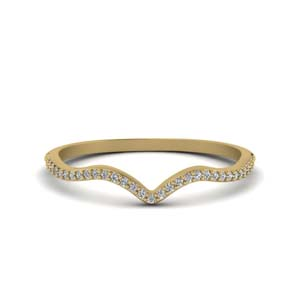 Thin Diamond Curved Band