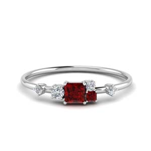 Non Symmetrical Ruby Ring