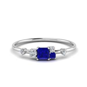 Sapphire Unconventional Wedding Ring
