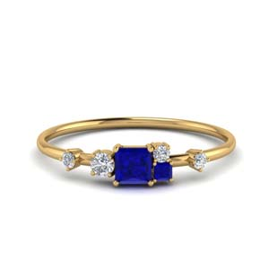 Gold Wedding Ring With Sapphire