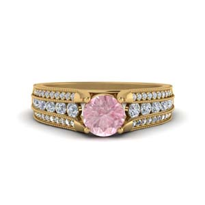 Morganite Vintage Wedding Ring