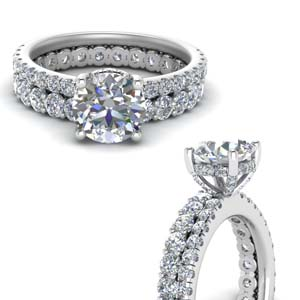 Eternity Diamond Wedding Set