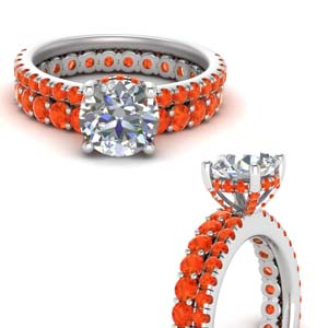 Accent Round Diamond Ring Set