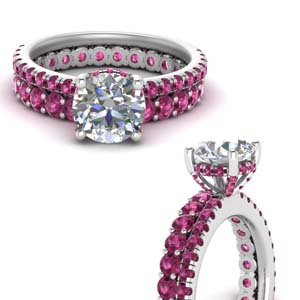 Hidden Halo Pink Sapphire Ring