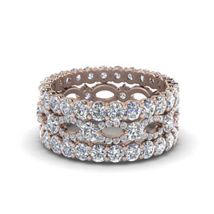 Rose Gold Stackable Diamond Band