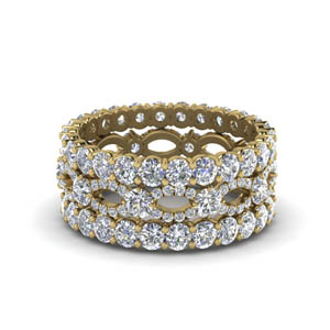 Stack Diamond Wedding Band