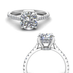 hidden halo pave set round diamond engagement ring in FD9128RORANGLE3 NL WG.jpg