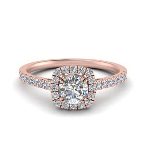 Halo French Pave Diamond Ring