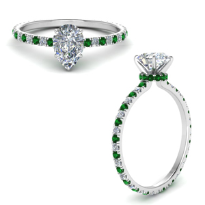 eternity-hidden-halo-pear-shaped-diamond-engagement-ring-with-emerald-in-FD9168PERGEMGRANGLE3-NL-WG