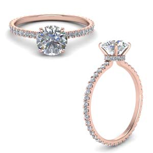 Eternity Hidden Halo Diamond Ring