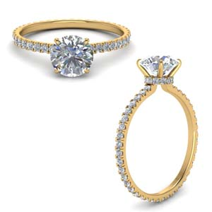 Eternity Diamond Under Halo Ring