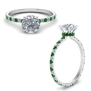 Platinum Emerald Wedding Ring