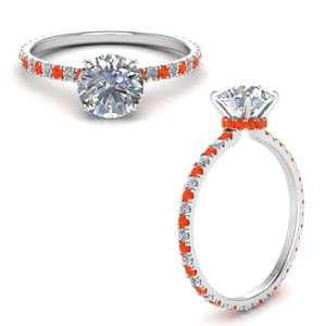 French Prong Engagement Ring
