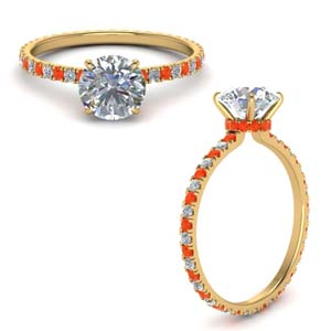 Orange Topaz Eternity Ring